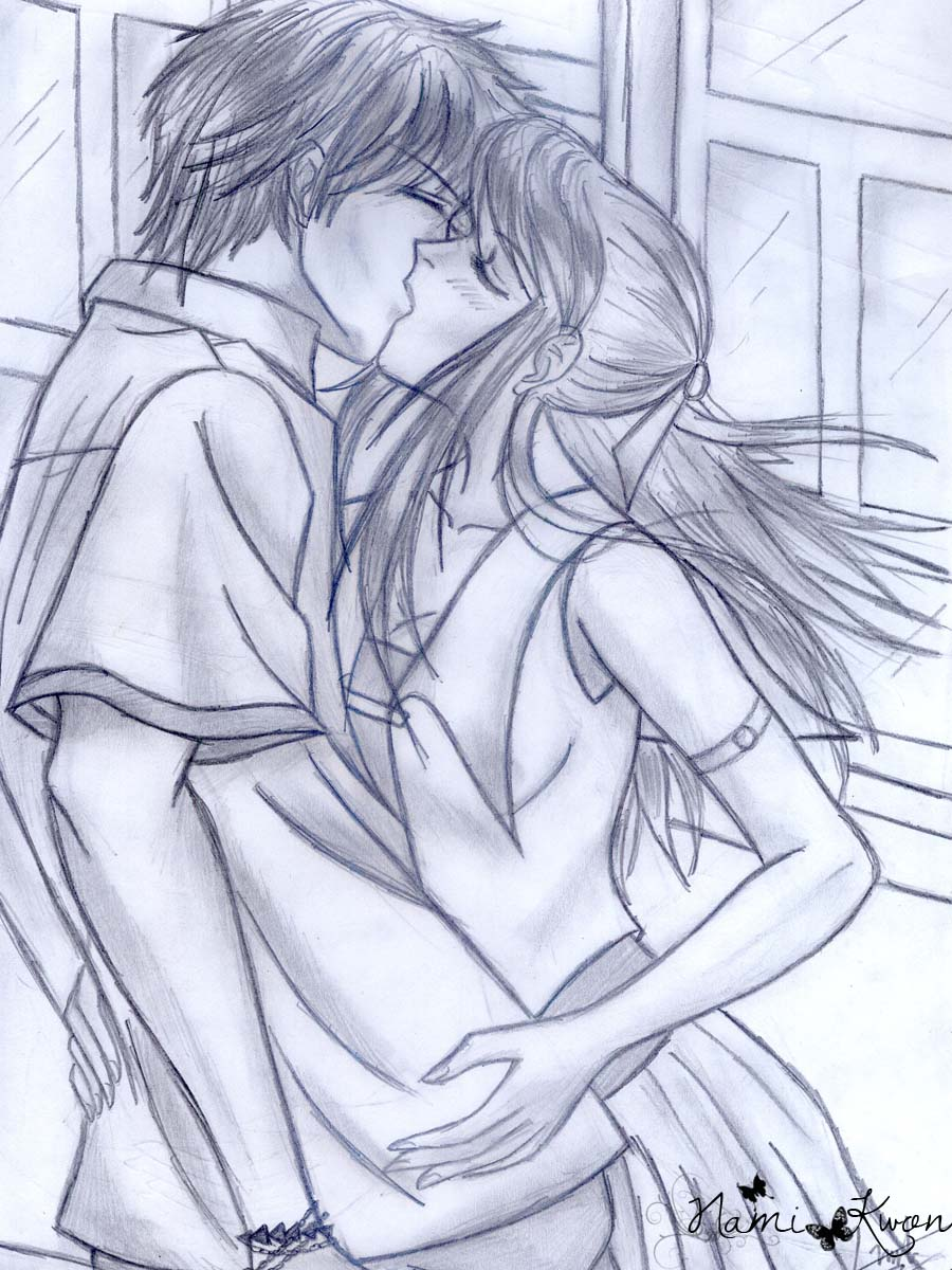Gambar cute couple sketches draw easy anime sket sketsa pensil