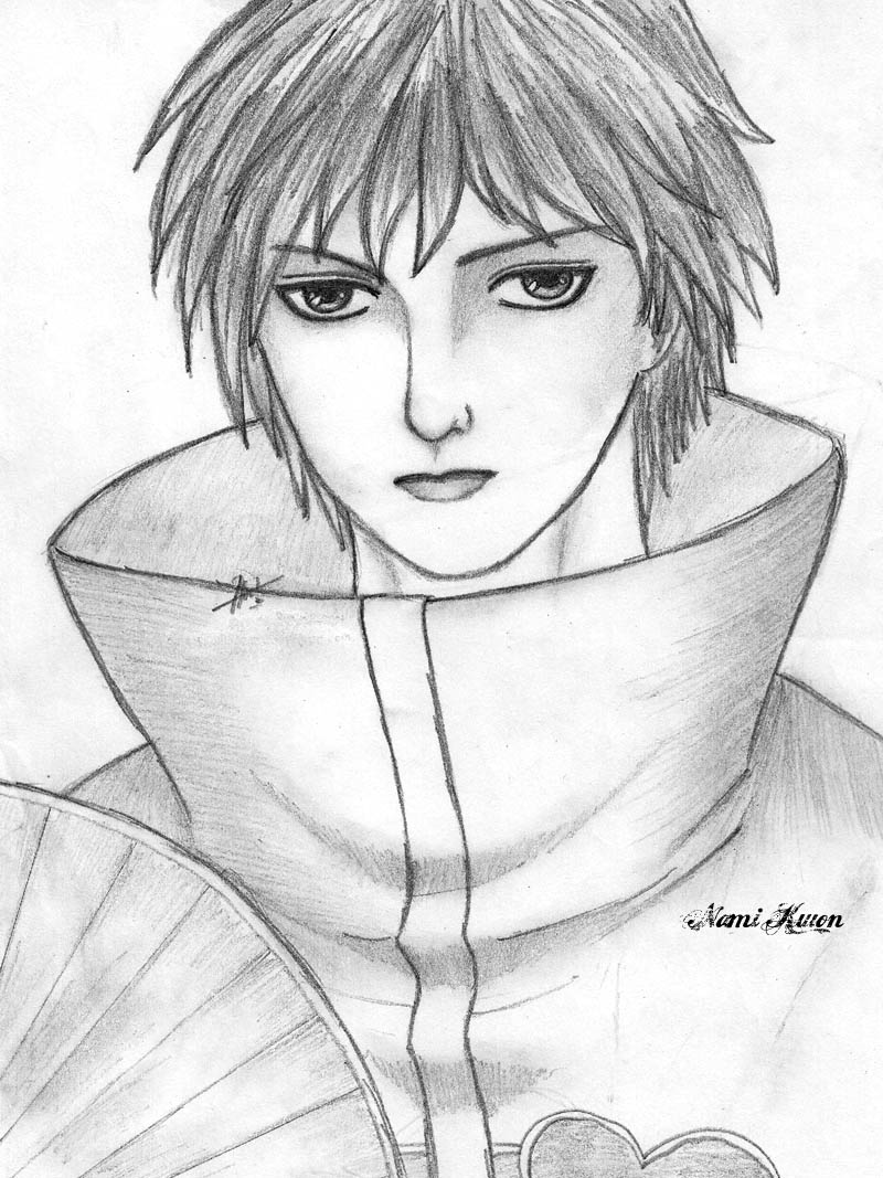 Image anime boys from pencil sketch